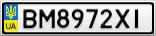 Номерной знак - BM8972XI