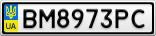 Номерной знак - BM8973PC