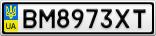 Номерной знак - BM8973XT