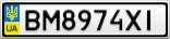 Номерной знак - BM8974XI