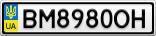 Номерной знак - BM8980OH
