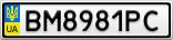 Номерной знак - BM8981PC