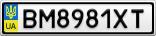 Номерной знак - BM8981XT
