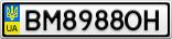 Номерной знак - BM8988OH
