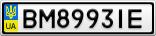 Номерной знак - BM8993IE