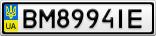 Номерной знак - BM8994IE