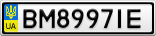 Номерной знак - BM8997IE