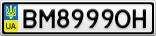 Номерной знак - BM8999OH