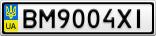 Номерной знак - BM9004XI