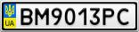 Номерной знак - BM9013PC
