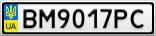 Номерной знак - BM9017PC