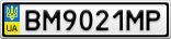 Номерной знак - BM9021MP