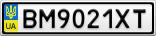Номерной знак - BM9021XT