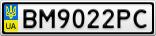 Номерной знак - BM9022PC