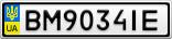 Номерной знак - BM9034IE