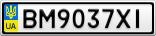 Номерной знак - BM9037XI
