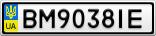 Номерной знак - BM9038IE
