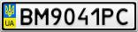 Номерной знак - BM9041PC