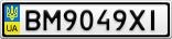 Номерной знак - BM9049XI