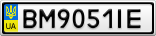 Номерной знак - BM9051IE