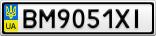 Номерной знак - BM9051XI