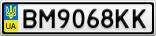Номерной знак - BM9068KK
