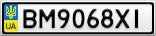 Номерной знак - BM9068XI