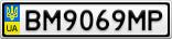 Номерной знак - BM9069MP