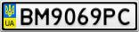 Номерной знак - BM9069PC