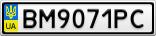 Номерной знак - BM9071PC