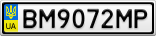 Номерной знак - BM9072MP