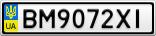 Номерной знак - BM9072XI