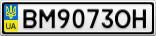 Номерной знак - BM9073OH