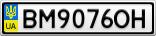 Номерной знак - BM9076OH