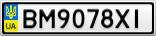 Номерной знак - BM9078XI
