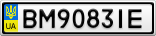 Номерной знак - BM9083IE