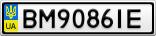 Номерной знак - BM9086IE