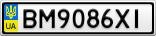 Номерной знак - BM9086XI