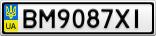Номерной знак - BM9087XI