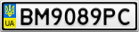 Номерной знак - BM9089PC