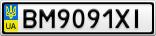 Номерной знак - BM9091XI