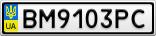 Номерной знак - BM9103PC