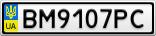Номерной знак - BM9107PC
