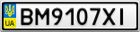 Номерной знак - BM9107XI
