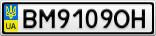 Номерной знак - BM9109OH