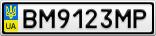 Номерной знак - BM9123MP