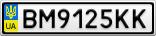 Номерной знак - BM9125KK
