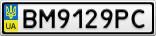 Номерной знак - BM9129PC