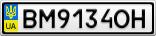 Номерной знак - BM9134OH