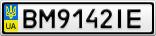 Номерной знак - BM9142IE